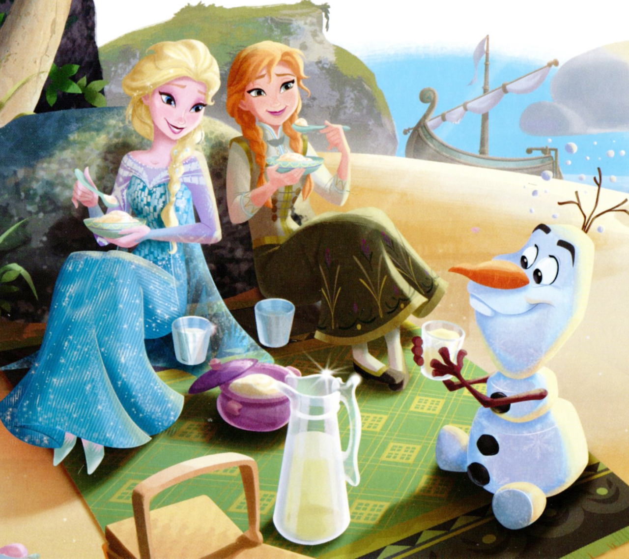 Olaf in summer wallpaper - Olaf and anna ...