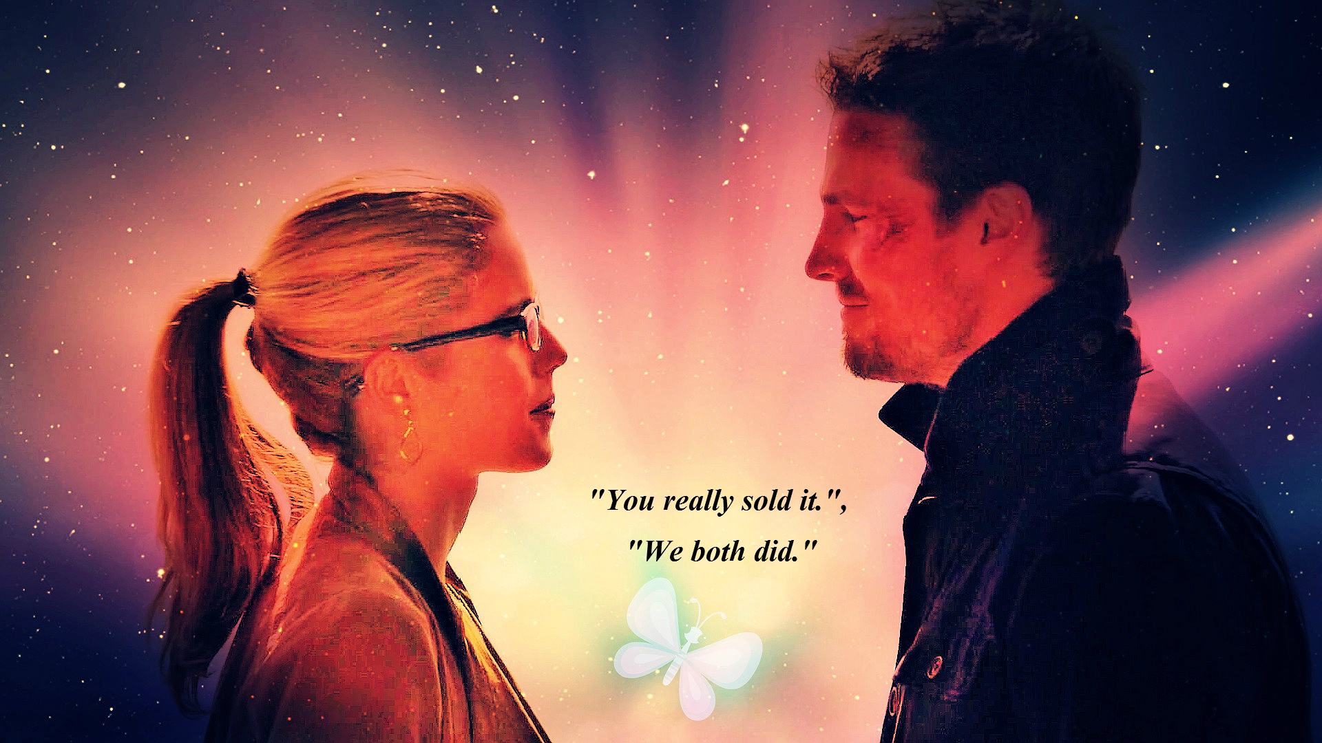 Oliver and Felicity kertas dinding - For mitsaki