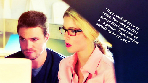 Oliver & Felicity achtergrond possibly with a portrait called Oliver and Felicity achtergrond