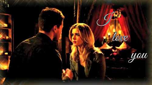 Oliver & Felicity fond d'écran probably with a fire, a fire, and a fireplace entitled Oliver and Felicity