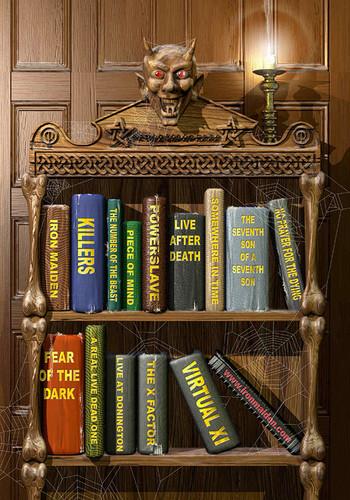 Iron Maiden wallpaper containing a bookcase called Original Artwork