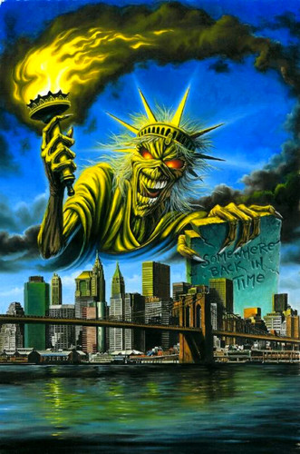 Iron Maiden wallpaper possibly containing a business district and anime entitled Original Artwork