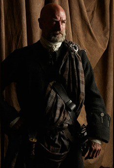 outlander serie de televisión 2014 fondo de pantalla probably containing a sobreveste, sobretodo, cota de titled Outlander Season 1 Dougal Mackenzie Official Picture