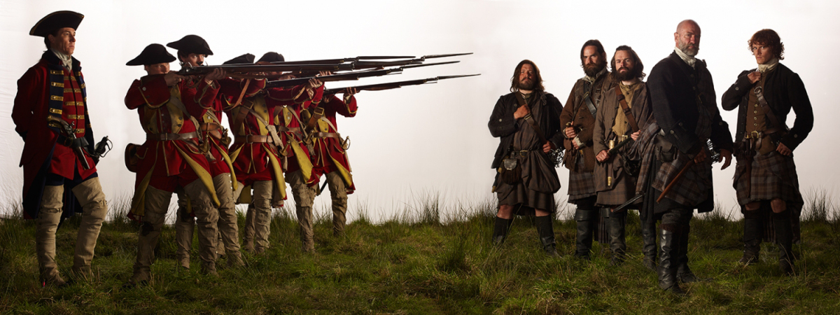 Outlander Season 1 Red Coats and Highlanders Official Picture