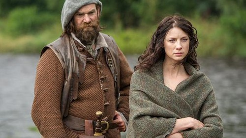 "serial tv outlander 2014 wallpaper probably with an outerwear entitled Outlander ""The Search"" (1x14) promotional picture"