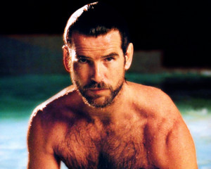 PIERCE BROSNAN WET HAIRY CHEST