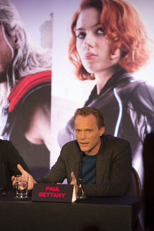 Paul Bettany aka Vision at the Avengers: Age of Ultron UK Press Conference