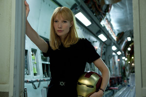 Pepper with Mark IV helm - Iron Man 2 (deleted scene)