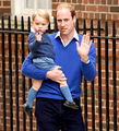 Prince William Takes George to Hospital to See Newborn Sister.