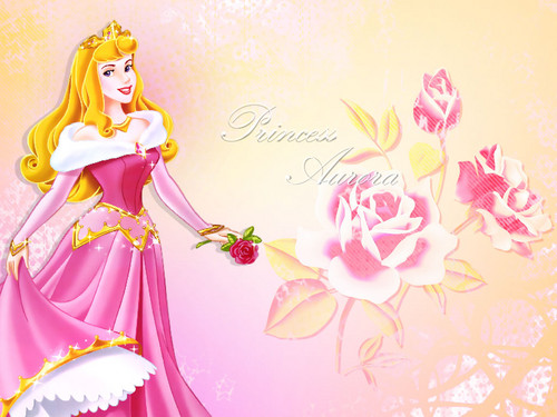 Disney Princess karatasi la kupamba ukuta with a bouquet titled Princess Aurora