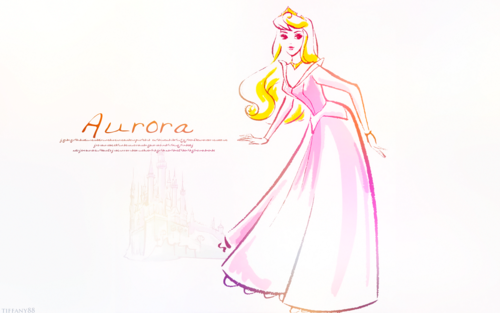 putri disney wallpaper with a bouquet entitled Princess Aurora