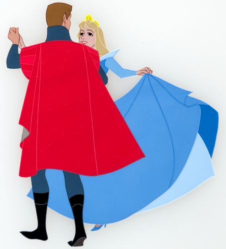 Aurora and Phillip fondo de pantalla probably with a parasol called Production cels for Sleeping Beauty