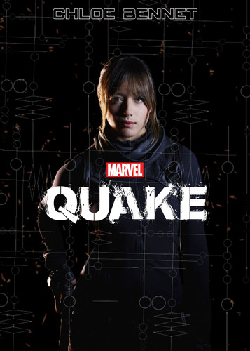 Skye (Agents Of S.H.I.E.L.D) 바탕화면 possibly containing a sign and a portrait titled Quake [Fake Movie Poster