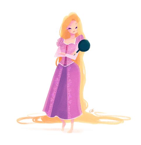 ডিজনি Extended Princess দেওয়ালপত্র titled Rapunzel