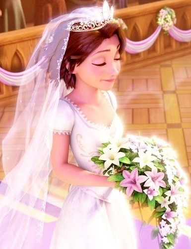disney fairytales club wallpaper probably containing a bridesmaid and a vestido called Rapunzel