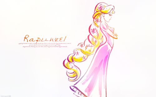 Principesse Disney wallpaper probably containing a bouquet entitled Rapunzel