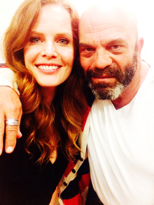 Rebecca Mader and Lee Arenberg