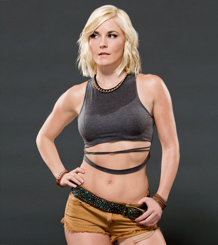 WWE Divas wallpaper probably with a bustier and tights titled Renee Young