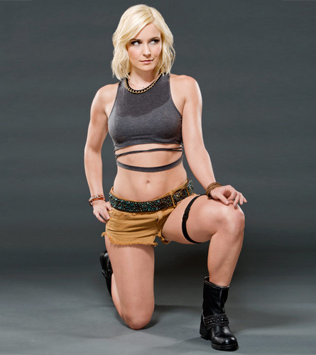 WWE Divas wallpaper probably containing a bikini and a swimsuit entitled Renee Young