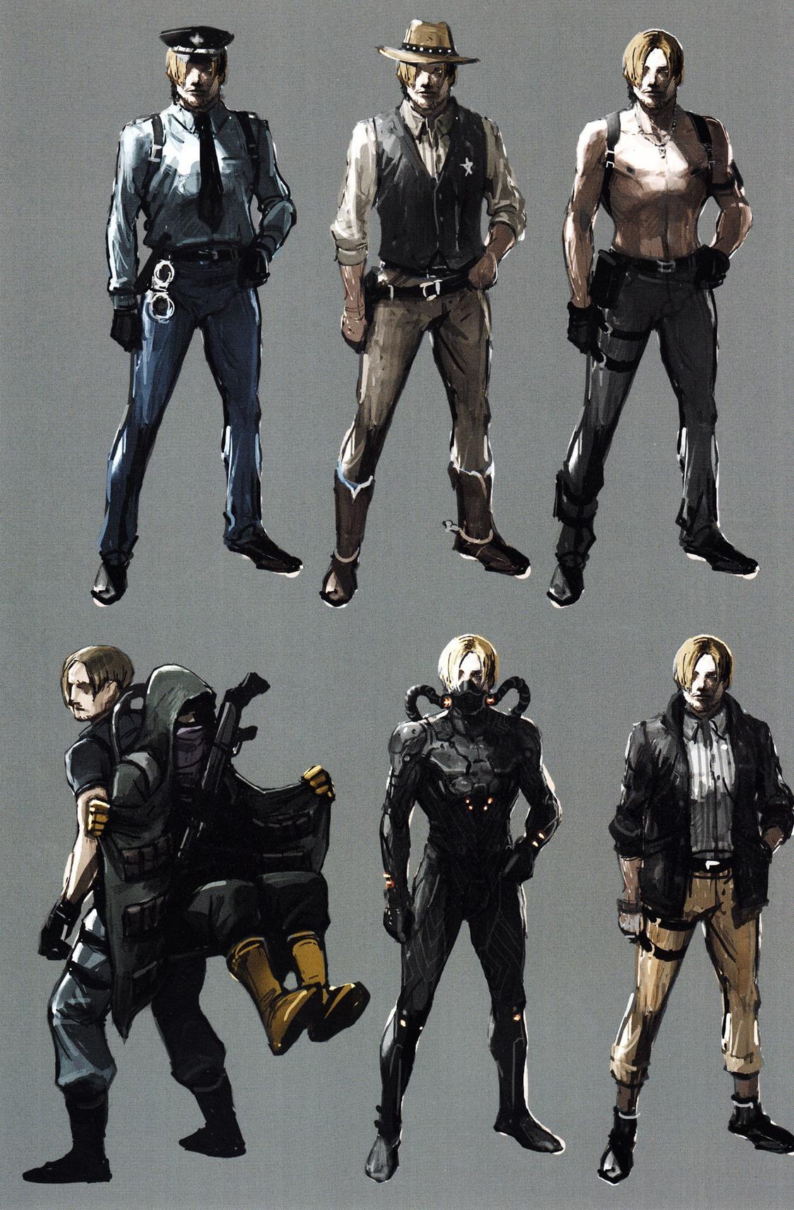Resident Evil 6 Concept Art   Leon Kennedy