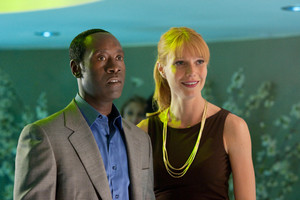 Rhodey and Pepper in Tony's party - Iron Man 2