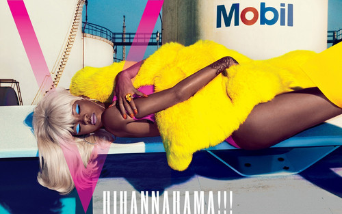"Rihanna wallpaper probably with skin entitled Rihanna for ""V"" magazine"