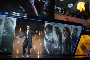 Robert Downey Jr. aka Iron Man Red Carpet at Avengers Age of Ultron UK Premiere