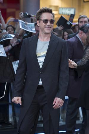 Robert Downey Jr. aka Iron Man Red Carpet at Avengers Age of Ultron UK Premiere