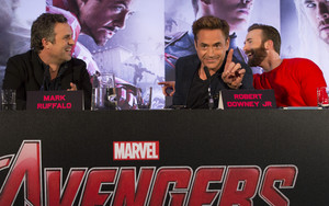 Robert Downey Jr. at the Avengers: Age of Ultron UK Press Conference