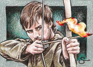 Robin capucha, campana Sketch