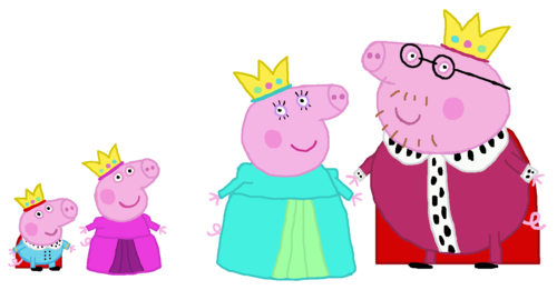 Peppa Pig wallpaper entitled Royal family Peppa Pig