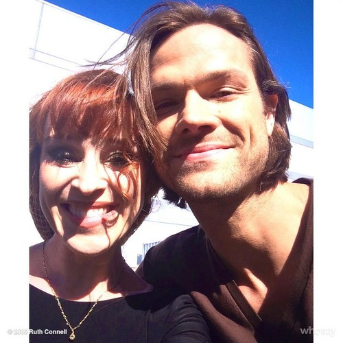 jared padalecki wallpaper possibly with a portrait called Ruth Connell and Jared