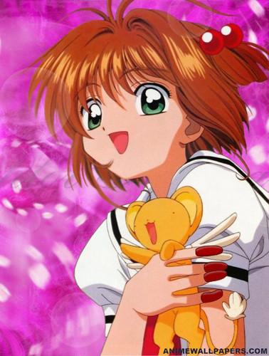 Cardcaptor Sakura پیپر وال with عملی حکمت called Sakura and Kero دوستوں