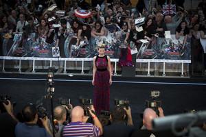 Scarlett Johansson aka Black Widow Red Carpet at Avengers Age of Ultron UK Premiere