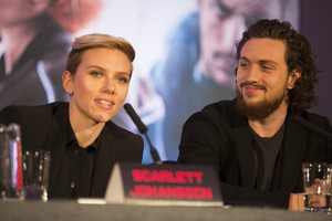 Scarlett Johansson at the Avengers: Age of Ultron UK Press Conference