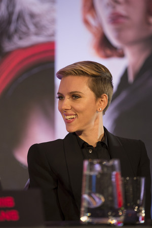 Scarlette Johansson at the Avengers: Age of Ultron UK Press Conference
