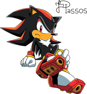 Shadow Sitting Sonic X