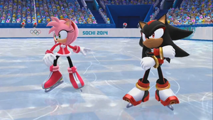 Shadow and Amy Mario