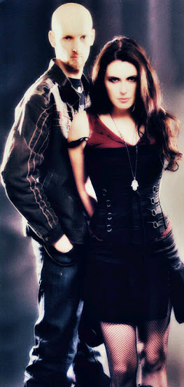 Sharon den Adel with her husband