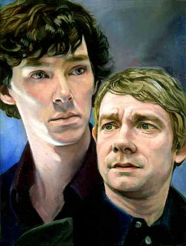 Sherlock দেওয়ালপত্র probably with a portrait entitled Sherlock and John awesome