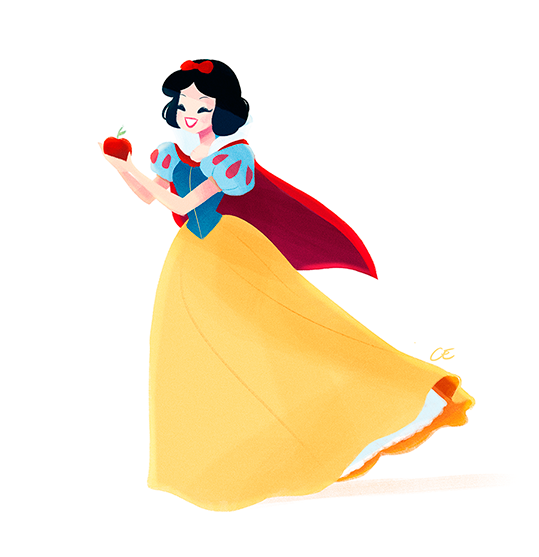 Walt disney snow white sketches