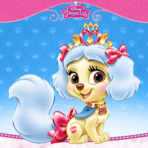 Snow Whites dog Muffin