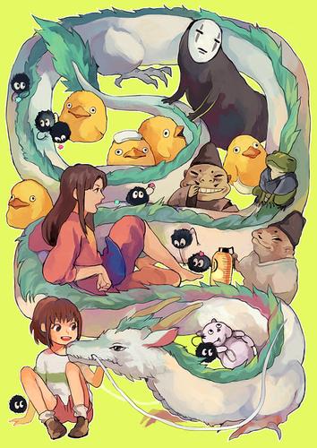 masigla ang layo wolpeyper containing anime entitled Spirited Away