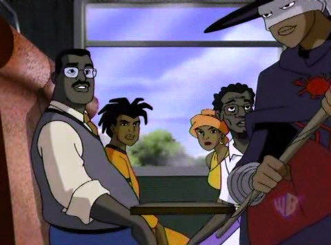 Static Shock wallpaper containing anime called Static in Africa: Meeting Anansi