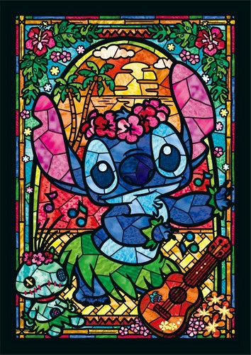 Lilo & Stitch fond d'écran probably with a stained glass window and animé titled Stitch