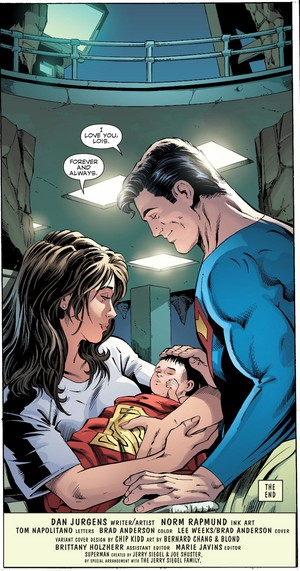 Superman and his family