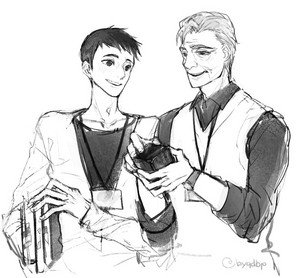 Tadashi and Professor Callaghan