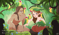 Tarzan and Jane - walt-disneys-tarzan fan art