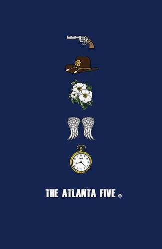 The Walking Dead wallpaper titled The Atlanta Five
