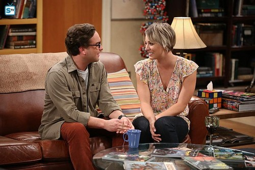 Teen テレビ shows 壁紙 containing a 読書 room and a ビヤホール, ブラッセリー, ブラッスリー called The Big Bang Theory 8.24 ''The Commitment Determination''